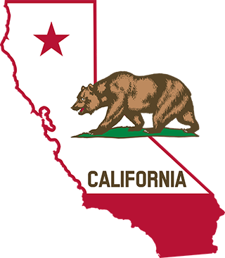 A stylized version of the California state flag