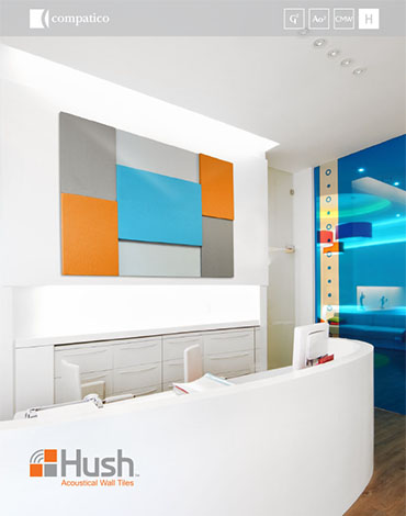 Cover to the Hush Tile brochure.