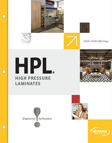 Cover of the Nevamar Laminate brochure.